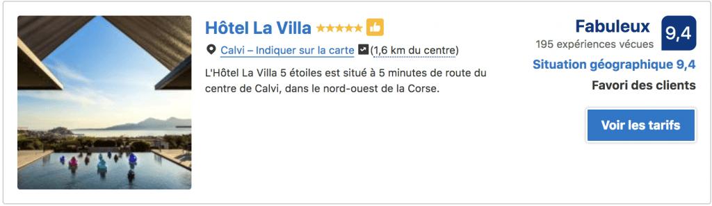 Hotel Calvi Villa